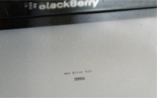 Cara Mengatasi Blackberry APP ERROR 523